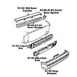 Impact Bar / Absorber Pad, Camaro 82-84 Z28 & Standard Rear Bumper Impact Bar & Absorber Pad, Used