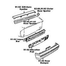 Impact Bar / Absorber Pad, Camaro 85-92 IROC/Z28/RS Rear