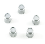 Camaro /  Firebird 82-2002 Silver Wheel Lug Nut Plastic Cap, Set of 5