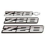 82-87 Camaro Z28 Tri Color Silver Emblem, Set, OE Replacement