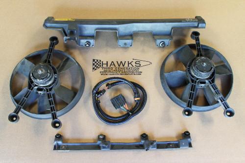 82 92 Camaro Firebird Dual Fan Assembly Changeover Kit