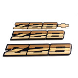 82-87 Camaro Z28 Tri Color Gold Emblem, Set, OE Replacement