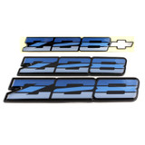82-87 Camaro Z28 Tri Color Blue Emblem, Set, OE Replacement