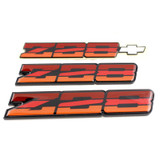 82-84 Camaro Z28 Tri Color Orange Emblem, Set, OE Replacement