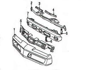 Bumper Cover, Firebird 91-92 Front Bumper Cover Trans Am