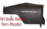 Trim Plastic, 82-92 Camaro/Firebird Passenger RH  Rear Hatch Side Trim Plastic, USED
