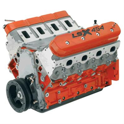 GM Performance LSX 454 Long Block Engine 7 4L, Iron Block 11:1