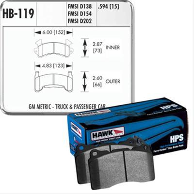 Hawk Performance HB289F.610 HPS Performance Ceramic Brake Pad