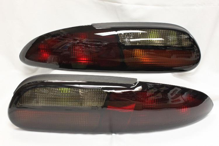 Tail Lights 97 02 Camaro Smoked Tinted Pair