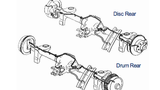 Axle Line, 84-92 Camaro / Firebird, Rear Axle Lines Drum Rear