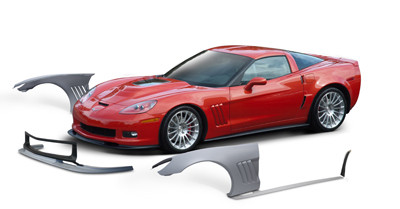 Wide Body Package, 2005-2013 C6 Corvette (only) w/Front  Fenders/Splitter/Side Skirts