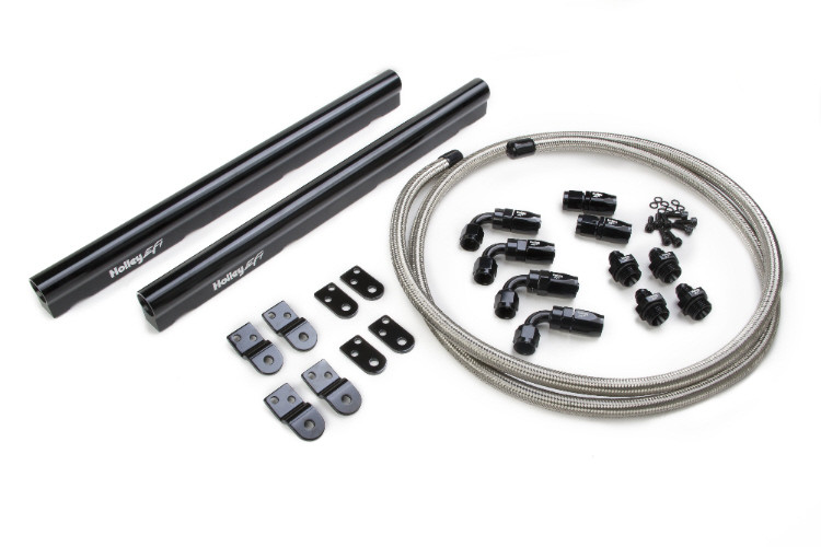 Holley LS Hi-Flow Fuel Rail Kit Includes Fittings & Hoses