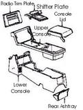 Camaro 82-92 Upper Console, New GM