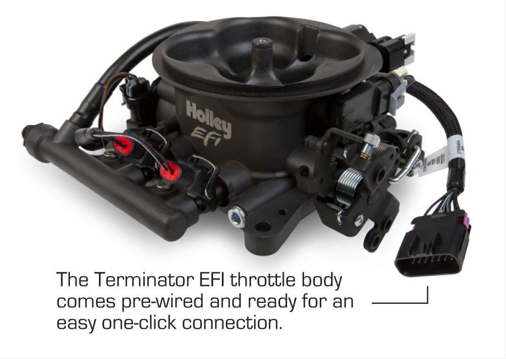 Holley Terminator EFI Engine Management System, Tumble Polished