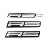 87-90 RS Style Tri-Color Silver Emblems, Set of 3, OE Replacement