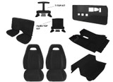 82-84 Firebird PMD Style Black Cloth Interior Kit