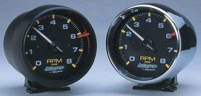 auto meter 8000 rpm tach with 3 3 4 face satin black hawks third