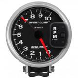 "Auto Meter Monster Sport Comp Tach 5"" face, 10,000 RPM"