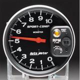 "Auto Meter Monster Sport Comp Tach w/ 5"" Face 10,000 RPM w/ mini shift lite"