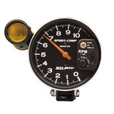 """Auto Meter Monster Sport Comp Tach, 5"""" face with shift light, 10,000 RPM , dial in exactness"""