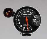 """Auto Meter Monster Sport Comp Tach, 5"""" face with shift light, 10,000 RPM , dial in exactness & Peak Memory"""