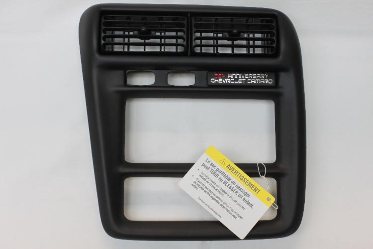 00-02 Camaro Radio Dash HVAC Bezel Ebony Black New GM