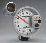 """Auto Meter Monster Sport Comp """"Silver"""" series Tach, 5"""" face with shift lite, 10,000 RPM , dial in exactness"""