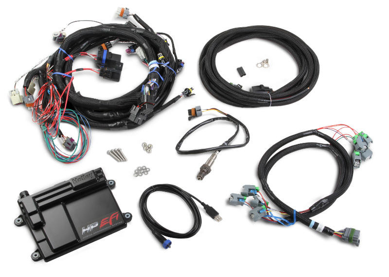 Holley Performance EFI ECU & Harness Kit, For application 58x Reluctor, &  EV6 Injectors, (LS2, LS7, LS3)