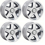 82-92 Camaro Firebird R15 Firehawk Aluminum Wheel, Black, 17 x 9.5, Set of 4,  New Reproduction