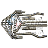 """2010+ Camaro Texas Speed 304 Stainless Steel Long Tube Headers w/ Catted 3"""" X-Pipe"""