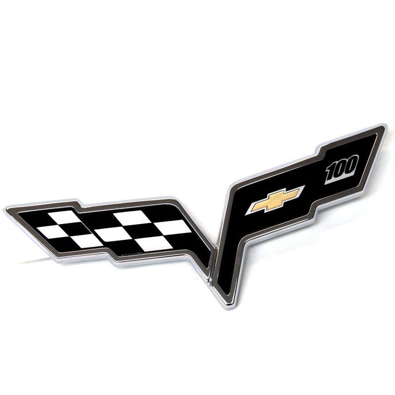 2005-2013 Corvette C6 Centennial 100th Anniversary Front Bumper Emblem New GM