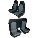 Camaro 97-2002 Seat Upholstery Kit , New Reproductions, Set, Front and Rear, Hampton Vinyl Leatherette