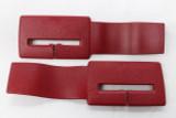 Camaro/Firebird 82-92 Seat belt Headliner Upper Trim Guides, Red, New Reproduction, PAIR
