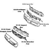 Impact Bar / Absorber Pad, Firebird 82-84 Front Impact Bar & Absorber Pad,  ALL Firebird Models, Used