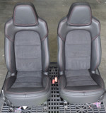 2012 Corvette C6 Centennial Suede & Leather Seat Converion Kit w/ Red Stitching