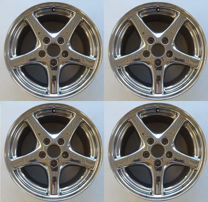 98 00 Trans Am Ws6 17x9 Used Polished Wheels Set Of 4 Front Rear
