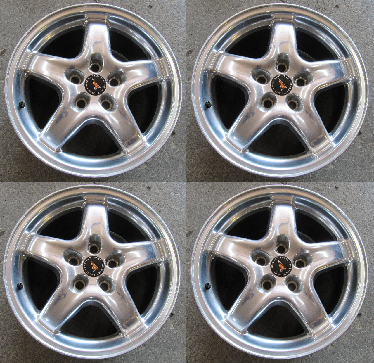 01 02 Trans Am Ws6 17x9 Used Polished Wheels Set Of 4 Front Rear