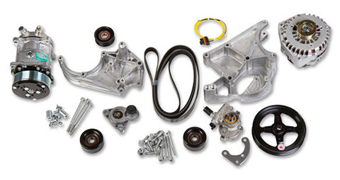 Holley LS Complete Accessory Drive Kit Includes R4 A/C