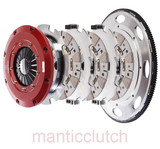 Mantic Clutch, LS2 LS3 LS7 2006-2013 Corvette 9000 Series Sprung Street Cerametallic TRIPLE Disc