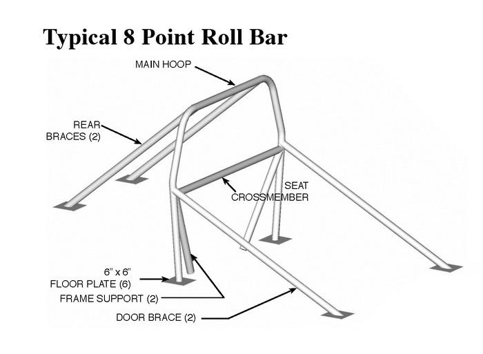 camaro  firebird 82-92 8-point roll bar  mild steel