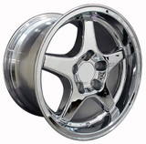 93-2002 Camaro SS / ZR1 Wheel Set of 4 (96-99 SS style), 17x9.5 Fronts / 17x11 Rears, Chrome, OE Replica