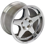93-2002 Camaro SS / ZR1 Wheel Set of 4 (96-99 SS style), 17x9.5 Fronts / 17x11 Rears, Silver, OE Replica