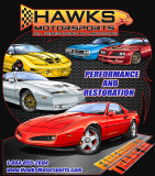 T-Shirt, Hawks Motorsports T-Shirt All Firebird, Black