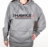 Hawks Motorsports Hooded Sweatshirt, Hoodie - GRAY