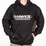 Hawks Motorsports Hooded Sweatshirt, Hoodie - BLACK