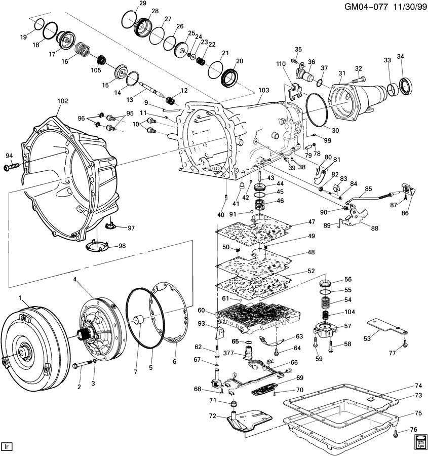 98 camaro engine diagram 1998-2002 camaro/firebird tail shaft extension housing for ...