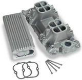 Weiand Stealth Ram Intake Manifold TPI, Satin, Stealth Ram Intake Manifold 1957-86; 262-400 SBC V8, 1987-later with aluminum heads - satin