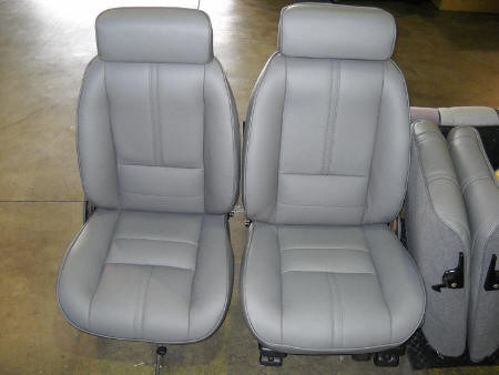 88-92 Camaro IROC Z28 RS Seat Upholstery Kit Katzkin Leather, Style with  Headrest and SOLID style Rear Seat