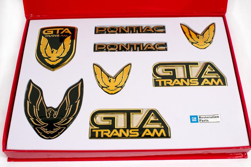 8 Piece Kit for 87-90 Firebird TA GTA Trans Am GTA Emblem Kit GREY
