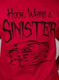 T-Shirt, Hawks Motorsports Hook, Whine & Sinister, Red
